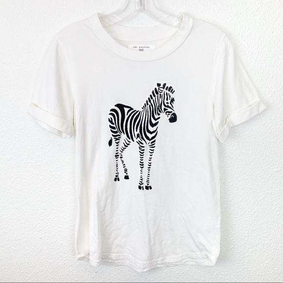 fc14e534 Anthropologie Tops | Anthro I Sol Angeles Zebra Cuffed Graphic Tee ...
